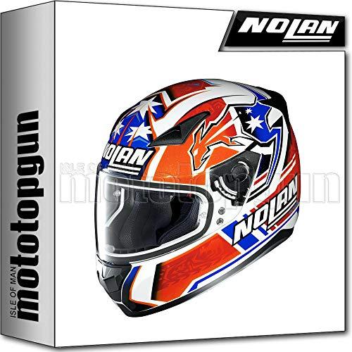NOLAN CASCO MOTO INTEGRALE N60-5 GEMINI REPLICA C. STONER - METAL BIANCO 026 TG. XXS