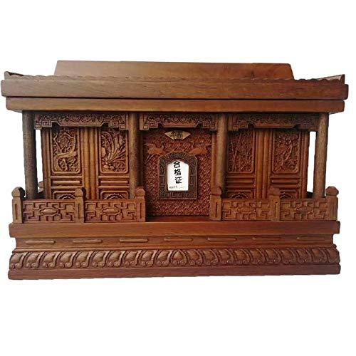 Top mooie gouden zijde nanmu gedenkteken kist, gemaakt van zeldzame hout, precisie met de hand gesneden, geschikt voor begrafenissen.
