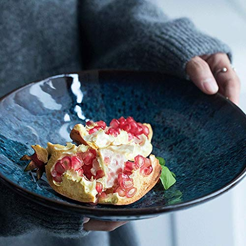 CESULIS La fruta de cerámica Ensaladera creativa del plato del hogar grande tazón de fuente del huevo y el cuenco de fruta Vajilla