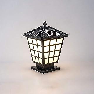 Traditional Solar Energy Post Lamp LED Dimmable Tricolor Post Column Lamp IP65 Waterproof Column Lamp Fence Column Post Li...