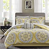 Madison Park Essentials MPE10-146 Serenity Complete Bed and Sheet Set Full Yellow