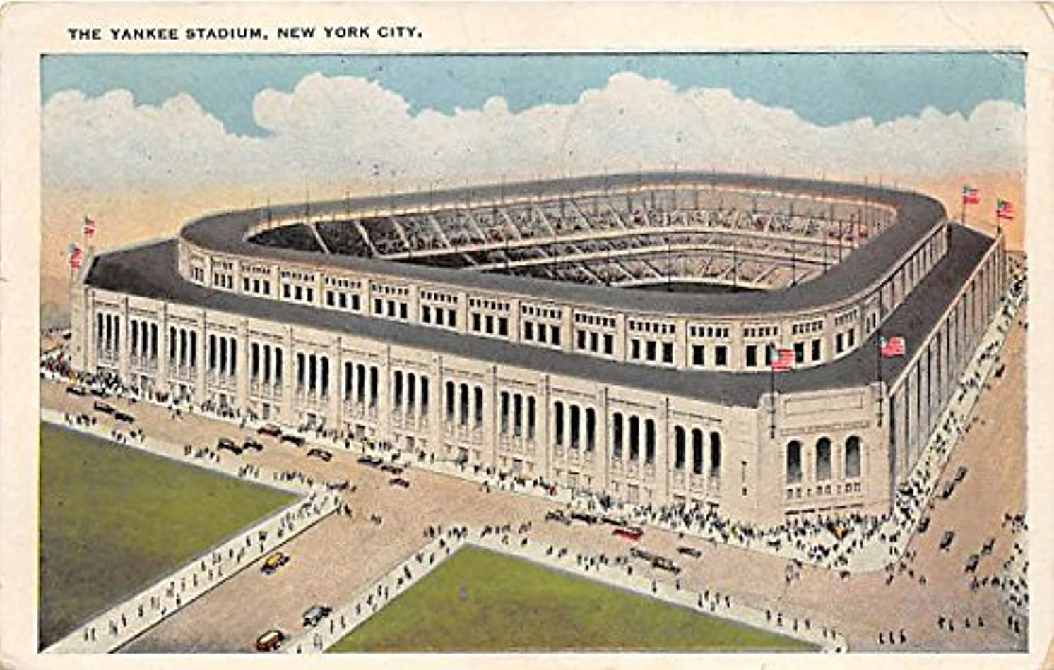 The Yankee Stadium New York City, NY, USA Old Vintage Postcard Post Card