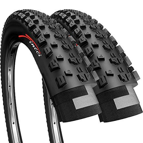 Fincci Par 26 x 2,25 Pulgadas 57-559 Plegable Cubiertas para MTB Montaña Fuera del Camino Hibrida Bici Bicicleta (Paquete de 2)