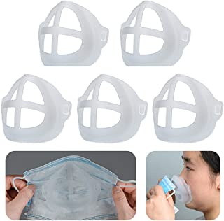 Cool Lipstick Protection Stand - 3D Mask Bracket - Nasal Mask Pad - Inner Support Bracket Breathing - Mouth and Nose Protection Lipstick Increase Breathing Space Help Breathe Smoothly (5)