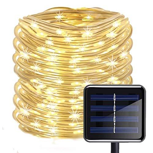 Lichterschlauch, Lichtschlauch Außen 20m 200 LED Schlauch Mit 8 Beleuchtungsmodi, Led Lichterschlauch Für Außen Lichterkette Aussen Solar Für...