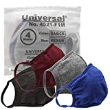 Universal 4521 Cloth Face Masks  Reusable Nose & Mouth Mask  100% Cotton, 2 Layer, Washable Facemask for Teens & Adults  Protects from Dust, Pollen, Pet Dander & More (Basics, Medium)