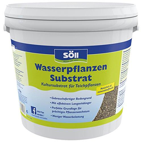Söll 20038 WasserpflanzenSubstrat Kultursubstrat für Teichpflanzen 12 kg - gebrauchsfertiger natürlicher Bodengrund mit Mineralstoffen zur Anpflanzung von prächtigen Wasserpflanzen im Gartenteich