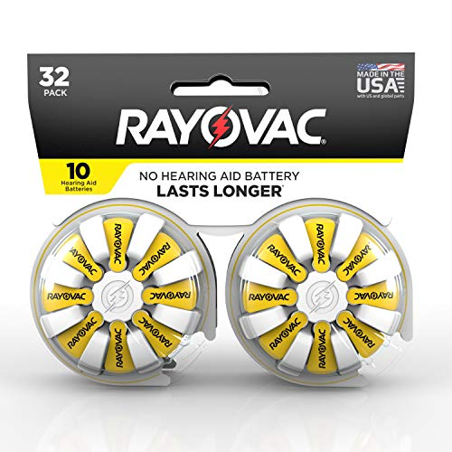 Rayovac Rayovac Hearing aid Batteries Size 10 for Advanced Hearing aid Devices 32 Count