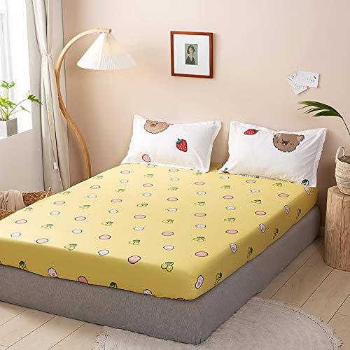 haiba Sábana bajera lisa de alta calidad, suave y acogedora, ropa de cama, cama tamaño king, 180 x 200 cm + 23 cm.