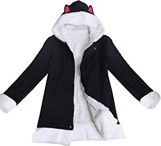 Nsoking Anime Durarara!! Izaya Orihara Costume Thick Fleece Winter Jacket Cute Ears Hoodie