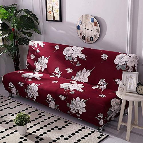 iBaste–Funda de sofá sofá funda sin reposabrazos Dormir sofá sofá husse con Stretch–Funda Slip Cover sofá protectora para sofá colchón sofá Slip Covers, b, 160cm-190cm