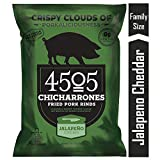 4505 Jalapeno Cheddar Pork Rinds, Certified Keto, Humanely Raised, Family Size...