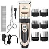 ONEISALL Dog Shaver Clippers Low noise Rechargeable Cordless Electric Quiet Hair Clippers Set for Dog Cat