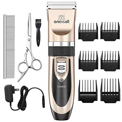 ONEISALL Dog Shaver Clippers Low noise Rechargeable Cordless Electric Quiet Hair Clippers Set for...