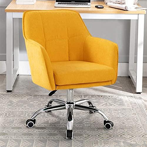 LSLY Sedia da Gioco Sedia da Ufficio, Sedia da Ufficio a casa Sedia da Ufficio Moderna in Lino, Sedia da Computer Regolabile e Girevole