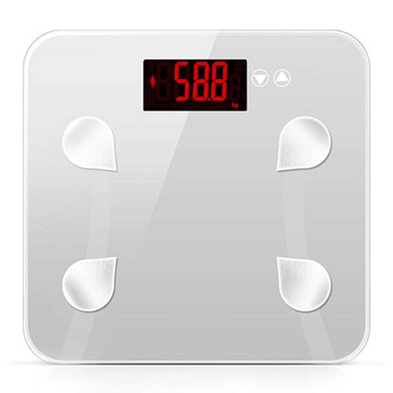 促すドキドキ挑発するバスルームスケール滑り止め超薄型バックライトディスプレイ高精度デジタル体重体脂肪計