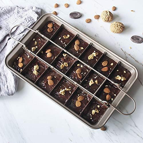 Haokaini Bakvormen Non-Stick 18-Gaats Bakvorm Chocolade Cakevorm Brownie Bakplaat Voor Brownies Cakes