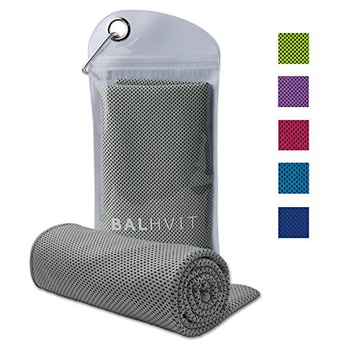 Balhvit Cooling Towel, CoolTowelforInstantCoolingRelief, Chilling Neck Wrap, Ice Cold Scarf For Men & Women, 40x12'', Microfiber Bandana - Evaporative Chilly Towel For Yoga Golf Travel Beach