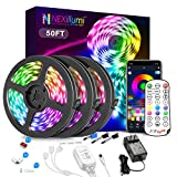 Best Bedrooms - Nexillumi 50ft LED Strip Lights with IR Remote Review