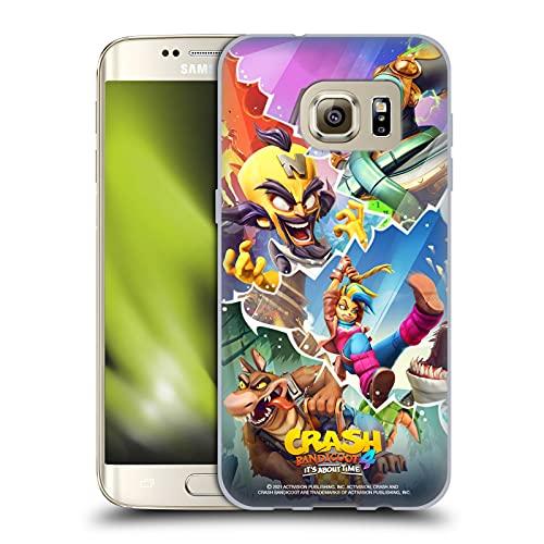Head Case Designs Licenza Ufficiale Activision Crash Bandicoot 4 Personaggi Arte Chiave Cover in Morbido Gel Compatibile con Samsung Galaxy S7 Edge