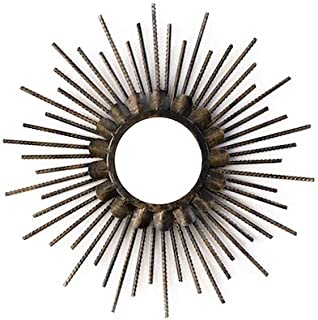 Kenay Home Espejo Decorativo Pared Siac, Efecto Desgastado, Madera, 40x40CM