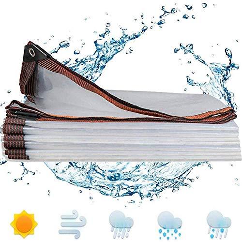 GFDGFDG wasserdichte Mehrzweck-PE-Plane, 5 Mil transparente Abdeckplane für Autos, Boote, Bauunternehmer, Wohnmobile und Notfallunterstand, 2 x 1 m