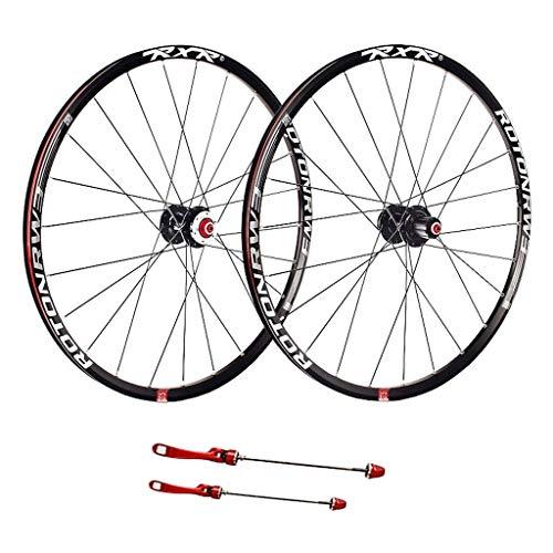 Ciclismo Ruedas 27,5, for Bicicleta Ruedas Doble Pared liberación rápida MTB Borde Sellado Rodamientos Disco 7 8 9 10 Velocidad Deportes (Color : A, Size : 27.5inch)