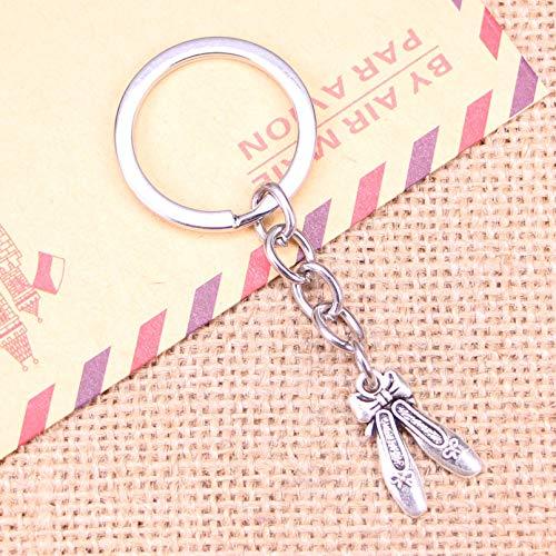 GEYKY Schlüsselbund 20x13mm Ballettschuhe Hausschuhe Anhänger DIY Männer Auto Schlüsselanhänger Halter Souvenir für Geschenk