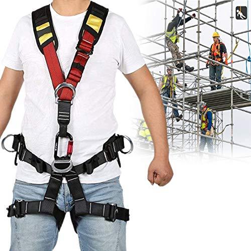 BDRSLX 5 Punti Imbragatura di Sicurezza Anticaduta Imbrago,Cintura di Sicurezza Regolabile for...