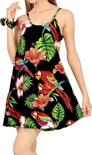 LA LEELA Women's Plus Size Summer Beach Casual Dress Swimwear Cover Up Printed B