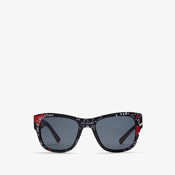 Dolce and Gabbana  DG4338 (Black/Grey 1) Fashion Sunglasses