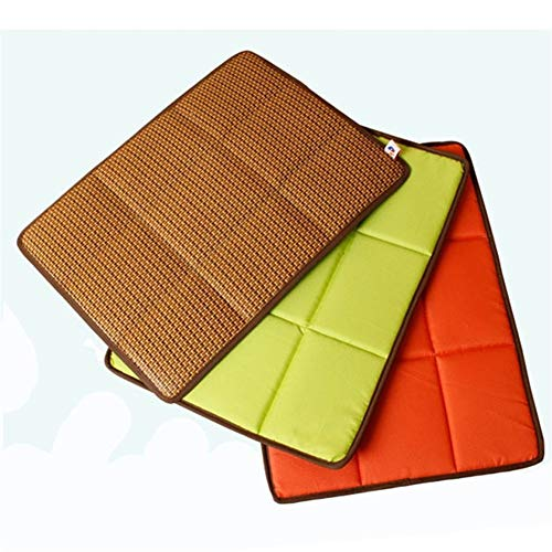 Dog Matras Bamboo Ice Mat for Keeping Cool Summer Ice Hond Kat Mat Pet Bed Hond Kat Mat Pad for Kennels Kratten en bedden (Color : Gold, Size : 79x64 cm)