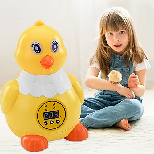 TELAM Incubadoras automáticas Forma de pollito, incubadora digital de 6 huevos, con control de temperatura, para incubar huevos de gallina de codorniz de pato Regalos para niños