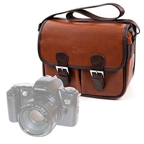 DURAGADGET Bolsa Profesional marrón con Compartimentos para Cámara Canon 500 EOS |...