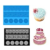 Joinor Cake Lace Fondant Mold Silicone Mat Cake Decorating Supplies Random Color