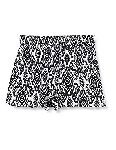 Only Onlnova Life Shorts WVN 7 Pantalones Cortos, Cloud Dancer/AOP: