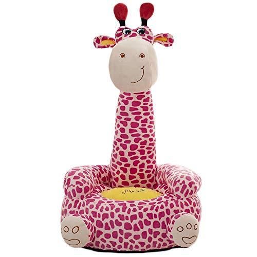ABIA Cojín Animal de Dibujos Animados Asiento de sofá para niños Almohada de Unicornio Peluche Regalo para niños (Jirafa Rosa)