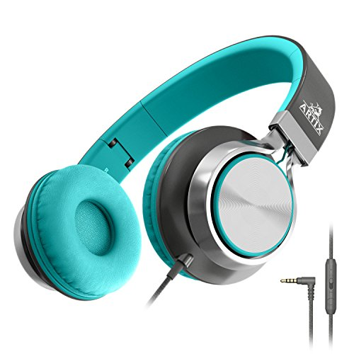 Artix CL750 Foldable Headphones with Microphone and Volume Control