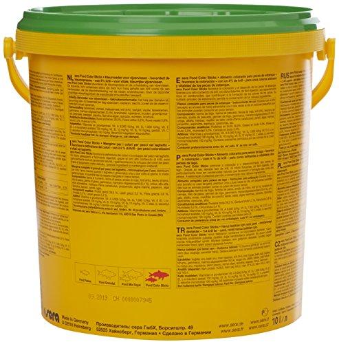 sera 07159 pond color sticks 10 l – das Farbfutter für Teichfische mit 4 % Krill - 2