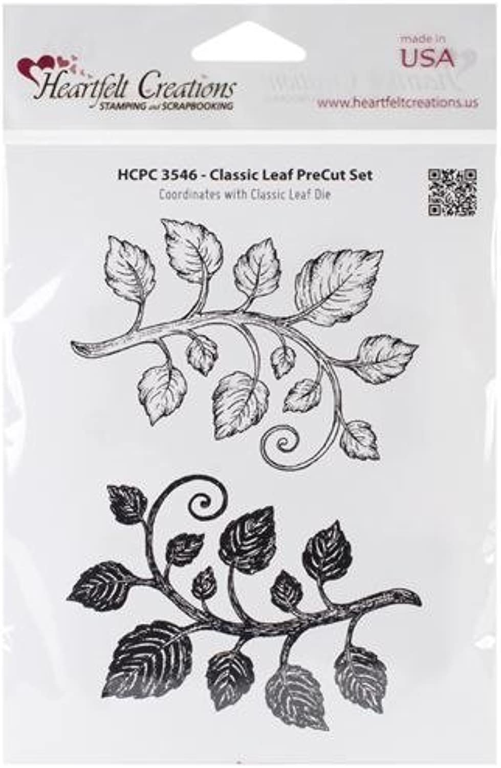 Heartfelt Creations Cling Rubber Stamp Set 5 X6.5 Classic Leaf by Heartfelt Creations