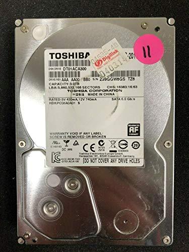 Toshiba dt01aca300interne Festplatte (SATA 2, 3TB 7200RPM 64MB Cache SATA 6,0GB/s 8,9cm interne Festplatte Bare Drive
