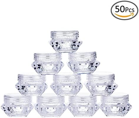 Goege 5 Gram Jar 5ML Clear Empty Plastic Pot Containers Refillable Cosmetic Lotion Diamond Container product image