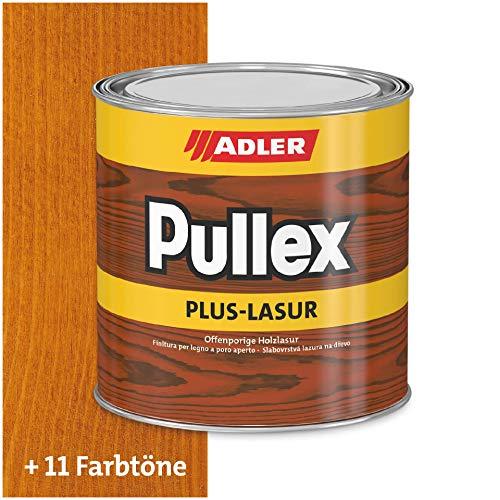 ADLER Pullex Plus-Lasur - Holzlasur Außen Farblos - Universell einsetzbare & aromatenfreie Holzschutzlasur als perfekter UV- & Wetterschutz - 2,5 l Kiefer/Braun