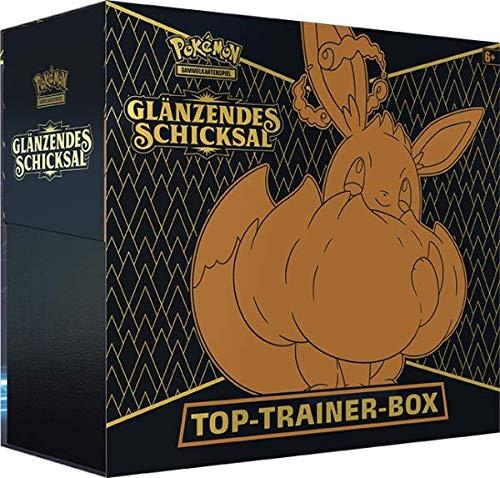 A Pokemon Glänzendes Schicksal Top (Elite) Trainer Box DEUTSCH (25 Jahre Jubiläum Schwert & Schild 4.5) + Arkero-G 100 Standard Soft Sleeves