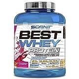 Best Whey Protein - 100% proteína de suero de leche, proteína en polvo con aminoácidos para el desarrollo muscular - 2,27 kg (Fresa con nata)