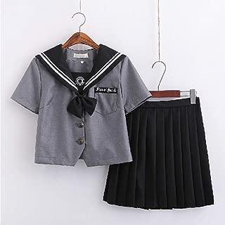 Women Dark Magic JK Uniform Gothic Japanese School Uniform Anime Cosplay Costumes Classic Halloween Sailor Nautical Dress Top Skirt Cardigan Set