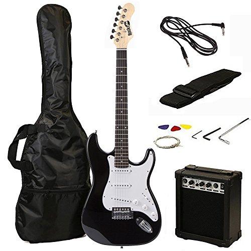 RockJam RJEG02-SK-BK Guitare Electrique, Noir