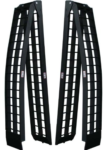 Titan Ramps 10' Long Folding Aluminum Arch ATV Ramps 1200 lb Capacity Light Weight Easy to Transport Dirt Bike Set of 2