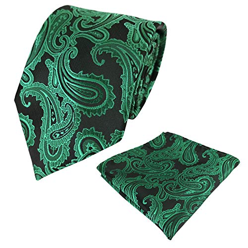 KOOELLE - Corbatas de boda para hombre, diseño de cachemir