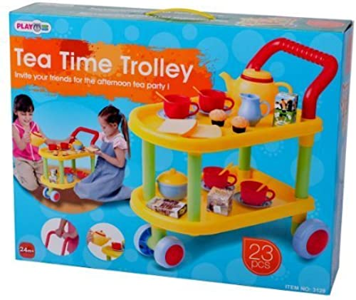 23-Piece Tea Time Trolley Set by PlayGo
